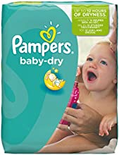 Pampers Windeln Baby Dry Gr. 6 Extra Large 16+ kg Monatsbox, 1er Pack (1 x 124 Stück)
