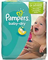Pampers - Baby Dry - Couches Taille 6 (+16 kg) - Pack économique 1 mois de consommation x124 couches