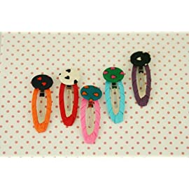 Colorful Buttons Hairpin (Pink)