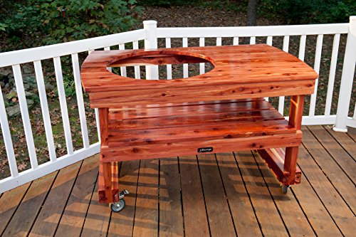 JJGeorge Table for (Extra Large) Big Green Egg w/ Free ...