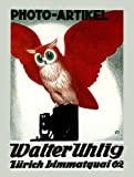 "Red Owl Green Eyes Photo Artikel Photography Camera Picture Walter Zurich Switzerland 20"" X 30"" Image Size Vintage Poster Reproduction"