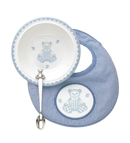 Reed & Barton 2613 Gingham Bear 3 Pieces Gift Set,