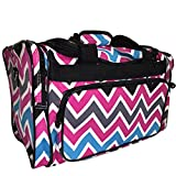 Dance Cheer Gym Pageant Travel Bag (Multi Chevron Black) thumbnail