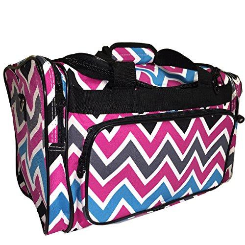 Dance Cheer Gym Pageant Travel Bag (Multi Chevron Black) image