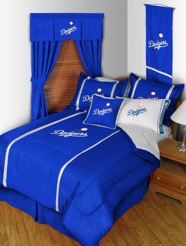 Mlb La Dodgers Bedding Set - 5Pc Bed In A Bag Queen Size front-872700