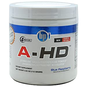 BPI Sports A-HD Diet Supplement, Blue Raspberry, 28 Servings