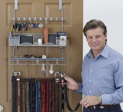 Men's Accessory Overdoor/Wall Valet Holder Hanger Organizer by Longstem