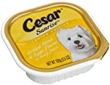 Cesar Sunrise Canine Cuisine Grilled Steak & Eggs Flavor for Small Dogs, 3.5-Ounce Cans (Pack of 24)