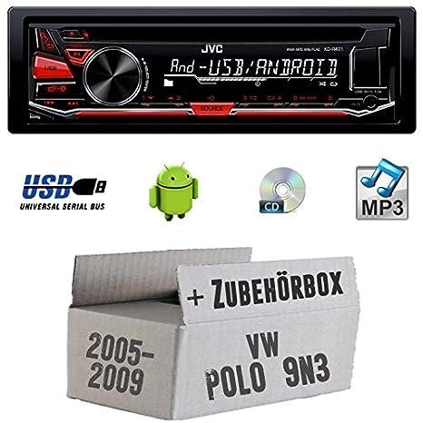 VW Polo 9N3-JVC KD r471e-Autoradio CD/MP3/USB-Kit de montage