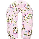 Stillkissen EULE Lagerungskissen Seitenschläferkissen Kissen Baby Kind in 2 verschiedenen Farben (Rosa) thumbnail