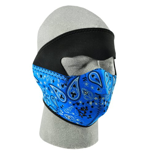 ZANheadgear Paisley Neoprene Face Mask Bandanna (Blue) Picture