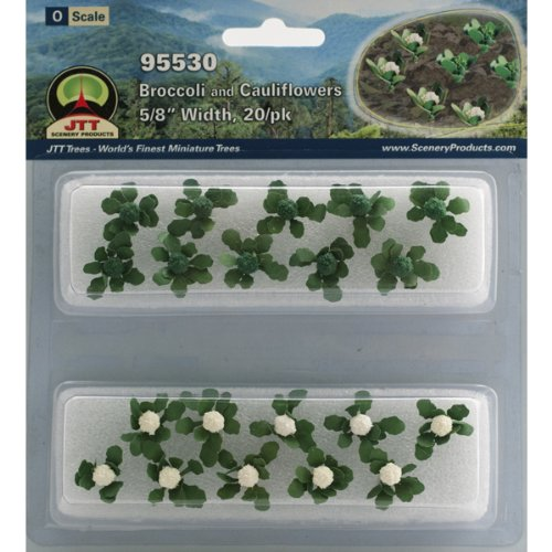 JTT Scenery Products Gardening Plants Broccoli and Cauliflowers O Scale Hobby Train Sceneries