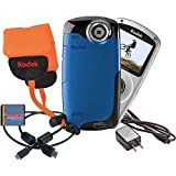 Kodak PlaySport (Zx3) HD Waterproof Pocket Video Camera Bundle (Blue)