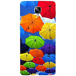 Casotec Colorful Umbrellas Design 3D Printed Hard Back Case Cover for OnePlus 3 / OnePlus 3T
