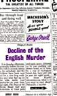 Decline of the English Murder