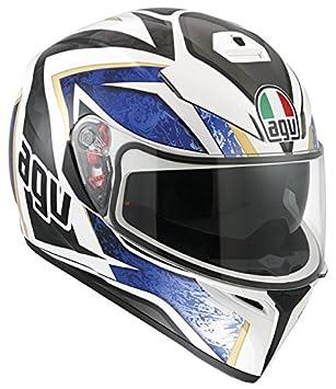 AGV Helmets 0301A2EY_002_ML Casque de Moto, Blanc, Taille M
