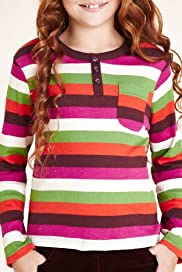 Pure Cotton Multi-Striped T-Shirt [T74-1391G-S]