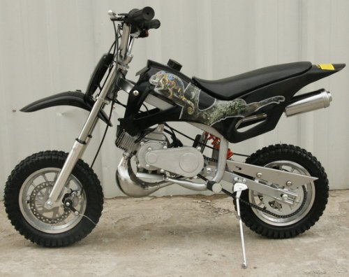 DB49A BLACK 49CC 50CC 2-STROKE GAS MOTOR MINI DIRT PIT BIKE