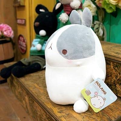 Molang Doll Medium Size Gray Rabbit Gentleman's Dignity Korea Official Doll New