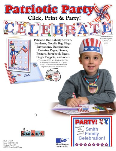 Scrapsmart - Patriotic Party Software Kit - Jpeg, Pdf, And Microsoft Word Files For Mac [Download]