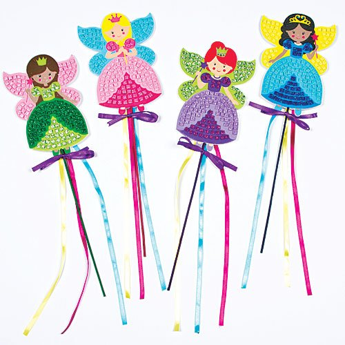 Fairy Princess Mosaic Wands for Children to Make and Display (Pack of 4) (Make Your Own Wand compare prices)