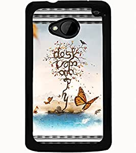 ColourCraft Creative Image Design Back Case Cover for HTC ONE M7