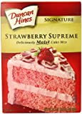 Duncan Hines Strawberry Cake Mix 517 g (Pack of 6)
