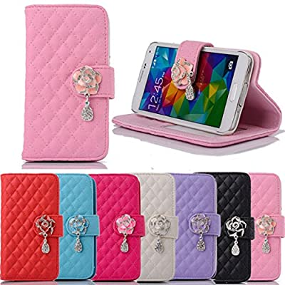 Towallmark(TM)Rhinestone Bling Flip Wallet Leather Case For Samsung Galaxy S5 i9600 by Towallmark