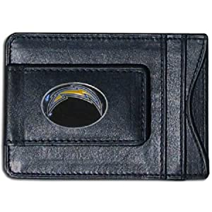 San Diego Chargers Fine Leather Money Clip - Black by SiskiyouGifts