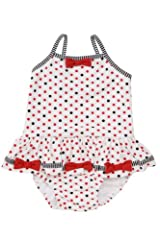 Kate Mack Girl's 2-6X Eau So French Swimsuit in Red