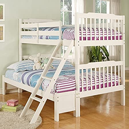 Metro Shop Simone Soft White Twin/ Full Bunk Bed