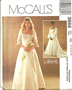 Misses/Miss Petite Lined Dresses McCall's Sewing Pattern 3869 (Size BB: 8-10-12-14)