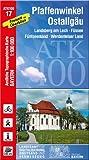 Pfaffenwinkel, Ostallgäu 1 : 100 000: Radwanderkarte