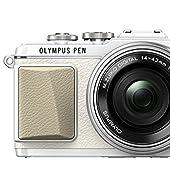 OLYMPUS ミラーレス一眼 PEN E-PL7 14-42mm EZレンズキット ホワイト E-PL7 EZ LKIT WHT