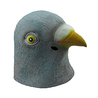 Natural Latex Pigeon Mask Costume Mask