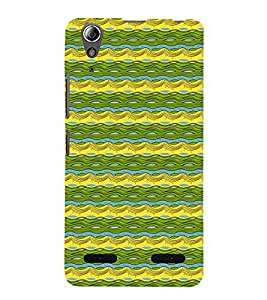 Waves Pattern Cute Fashion 3D Hard Polycarbonate Designer Back Case Cover for Lenovo A6000 :: Lenovo A6000 Plus :: Lenovo A6000+