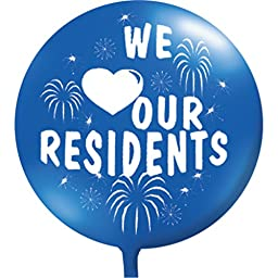 We Love Our Residents Balloon, Blue