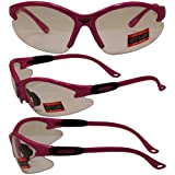 Cougar Safety Glasses, Clear Lens, Hot Pink Frame Picture