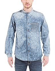 Shuffle Men's Casual Shirt (8907423019218_2021515802_Medium_Indigo)