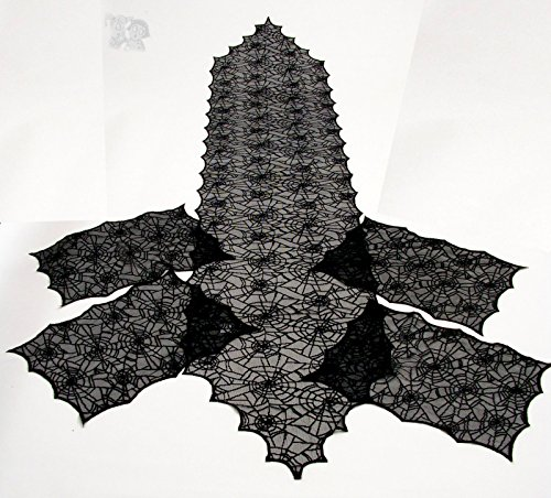 Spider Web Lace Tablecloth Set Runner 84