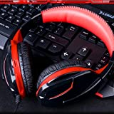X9 Black + Red for Xbox 360 Sponge Head Beam Wheel Voice Control Noise Reduction Technology Game Headphone with Rotary High Sensitivity Microphone and 3.5mm Antioxidant Plug