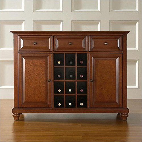 Crosley Furniture Cambridge Buffet Server/Sideboard Cabinet with Wine Storage, Classic Cherry (Buffet Server Antique Style compare prices)