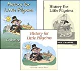 img - for History for Little Pilgrims Student, Teacher and Coloring Book SET of 3 for grade 1 book / textbook / text book