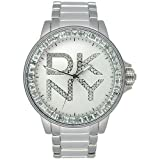 DKNY Women's NY4786 Fashion Crystal Accented Silvertone Dial Watch
