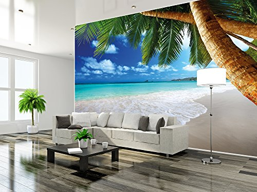 fototapete karibik strand great art palm beach sonne sommer ferien natur meer insel paradies. Black Bedroom Furniture Sets. Home Design Ideas