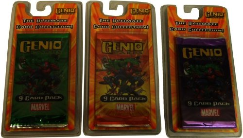 Genio Marvel Collector Cards - 9 Card Pack Case Pack 72