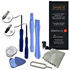 iPhone 4 Battery Replacement : New Zero Cycle 1420mAh 3.7V Li-Ion Battery Replacement for iPhone 4 with Complete Tools Kit & Instructions (Compatible with Models of the iPhone 4 GSM & CDMA: A1332 & A1349 - by Daeta