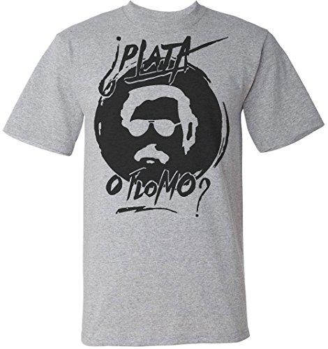 pablo-escobar-plata-o-plomo-mens-t-shirt-large