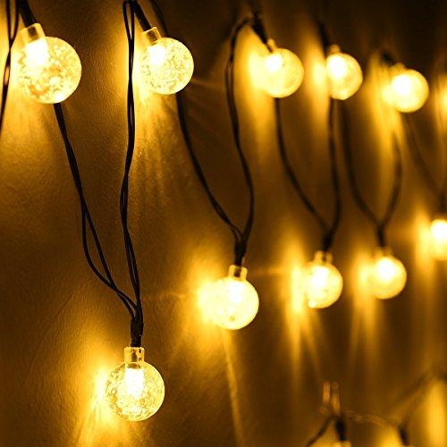 led solar guirnalda de luces navidad exterior