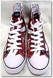 Size 4 Eddie Van Halen EVH Red/Black/White Combo HIGH Top Sneaker Tennis Shoes EV027